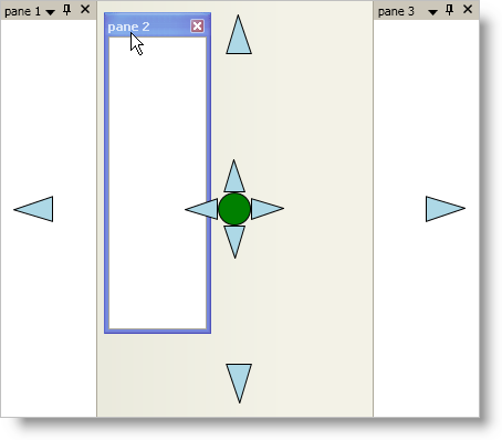 Styling the Docking Indicators - Infragistics WPF™ Help