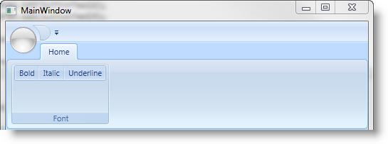 Adding xamRibbon to Your Application - Infragistics WPF™ Help