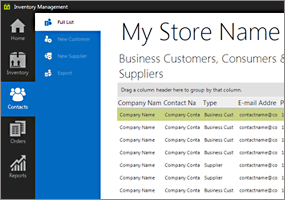 Windows Forms Inventorymanagement Reference App