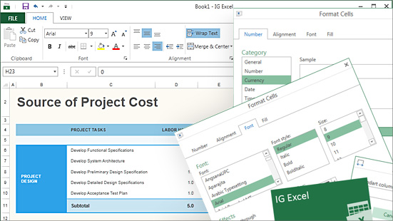 Wpf Spreadsheet Embed Excel