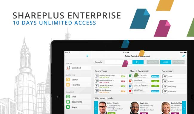 10 Days of Unlimited Access to SharePlus Enterprise