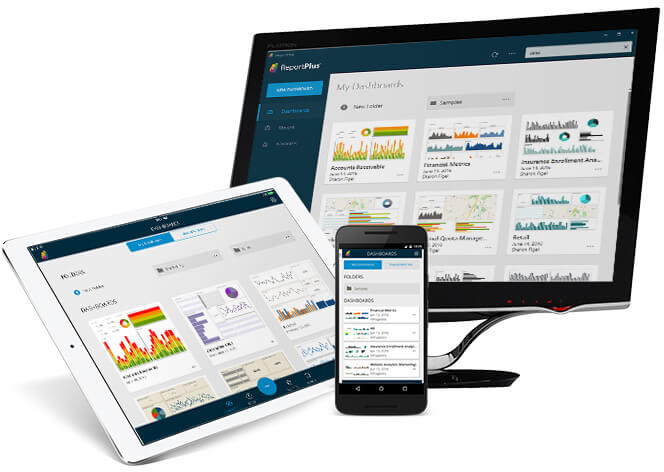 Access your ReportPlus dashboards anytime from any device