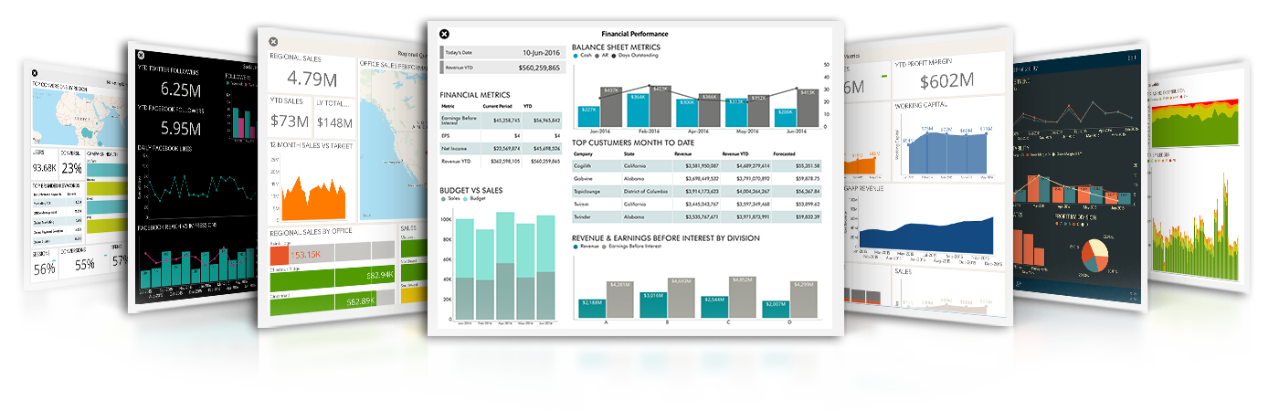 ReportPlus Solutions – Analytics Dashboard Samples for Finance, Sales, Marketing, Executive, Manufacturing, Retail, Operations, Insurance