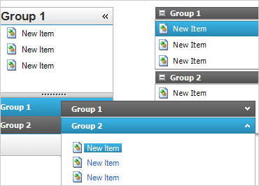 Set the view style to ListBox, ToolBox, VisualStudio2005Toolbox, OutlookNavigationPane or ExplorerBar.