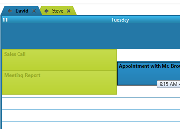 View multiple resource calendars in a single view.