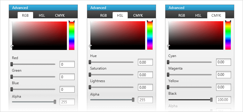 Advanced Color Editor