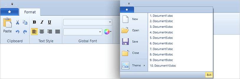 Windows 7 Scenic Ribbon