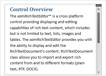 WPF Rich Text Editor