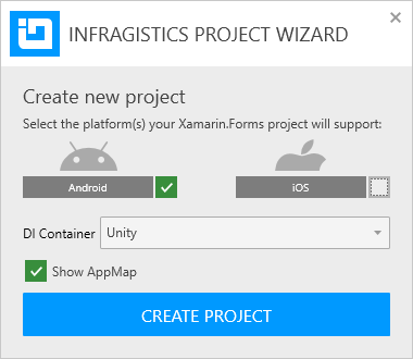 Infragistics Project Wizard