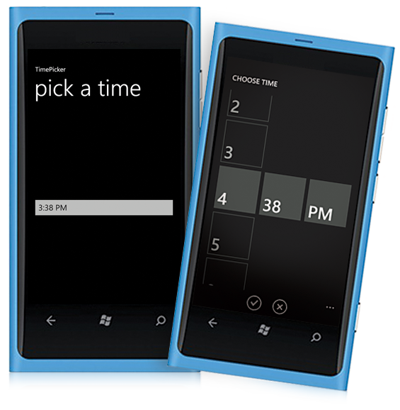 Windowsphone Timepicker