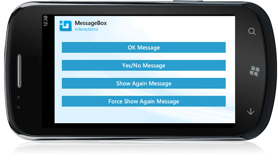 Windows Phone Message Box Interactions Kf