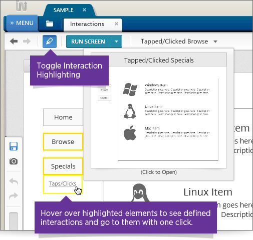 Indigo Prototype Highlight Interactions Key Features Image