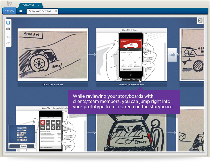Indigo Present Prototypes From Storyboard Key Features Image