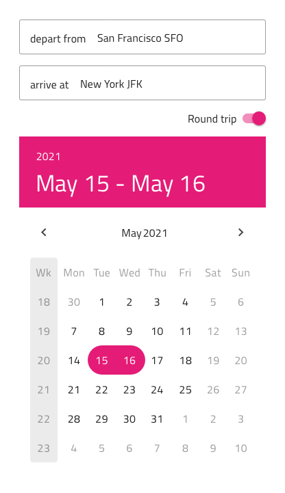 Angular Calendar.Calendar Design System Component Native Angular Ignite Ui For