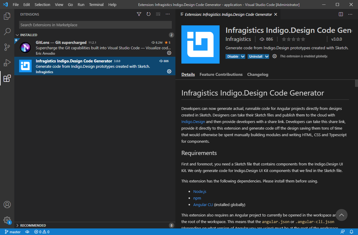 Installing the Visual Studio Code Extension - Native Angular