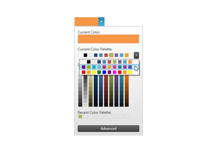 wpf menuitem font color code