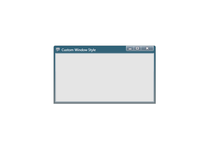 Styling the dialog window dialog window wpf for Xaml control template