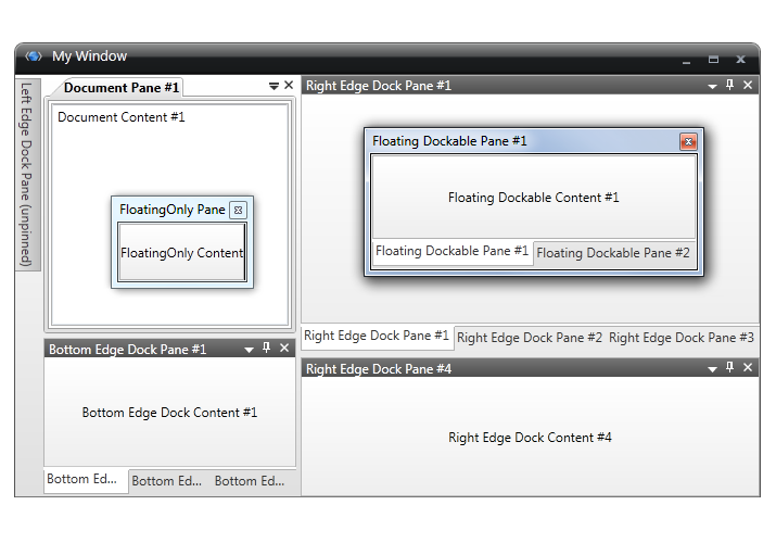 Display Document Content - Dock Manager - WPF