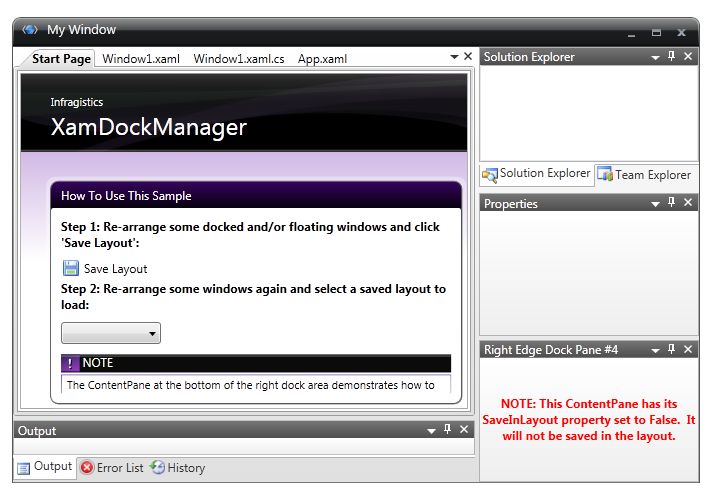 Loading And Saving Layouts Dock Manager Wpf