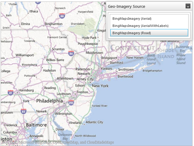 Creating Custom Bing Map Imagery Geographic Map WPF - Create us map