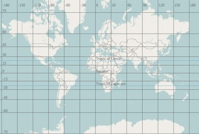 Map Coordinates Grid Geographic Map WPF - Us map coordinates