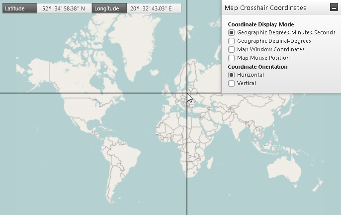 Map Location Pane Geographic Map WPF
