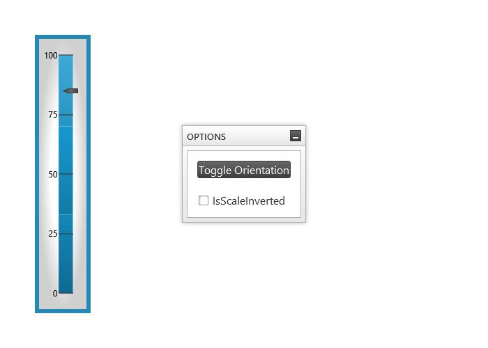 Vertical Orientation - Linear Gauge - WPF