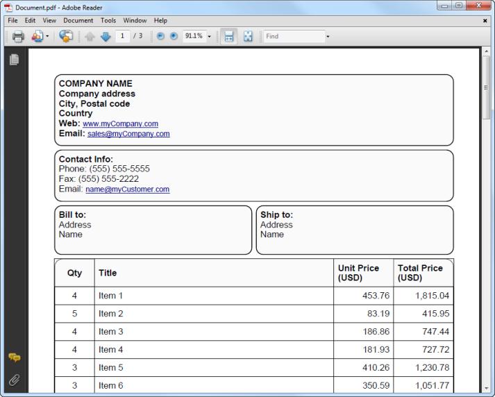 Export to PDF - Infragistics Documents - Windows Forms