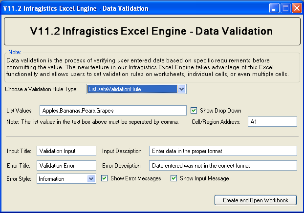 how to set a data validation rule in excel