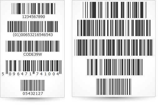 Control whether you want to display the readable text underneath your barcode using the Silverlight hiding readable text feature.