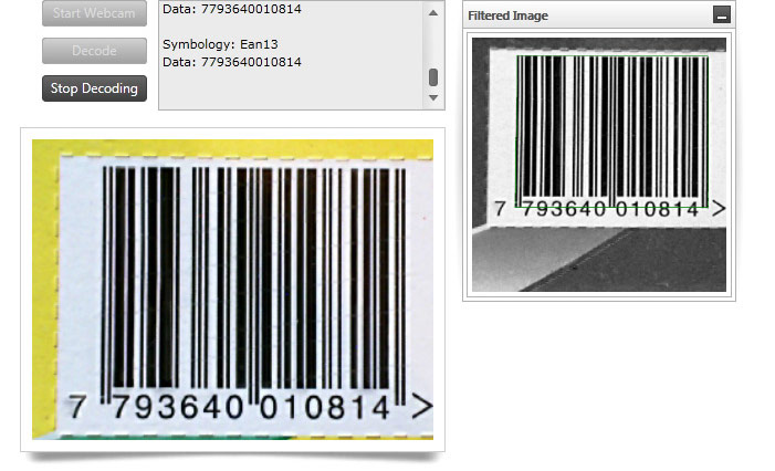 WPF Barcode Reader - Infragistics