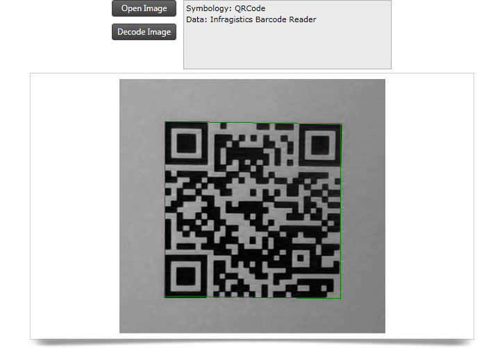 Decode a barcode from an image using the Barcode Reader.