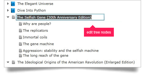 End users can edit any tree node using the WPF data tree node editing feature.