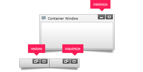 Minimize, maximize and restore your dialog windows.