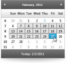 Users can easily select date ranges with their keyboard or mouse.