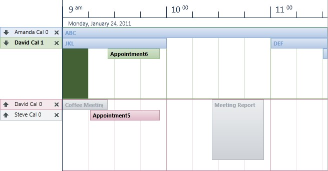 Update the theme of your scheduling application with the Silverlight Office 2010 themes.