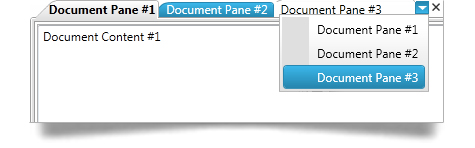 Users can create a tabbed menu-type area to access different pieces of information with the WPF dock manager.
