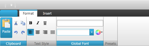 Utilize the WPF ribbon tabs and groups feature to further organize your applications functions.