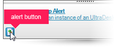 Add one or more buttons to appear on bottom edge of the desktop alert window.