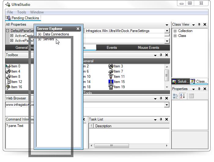Docked and floating window sample code - mjkjrdt