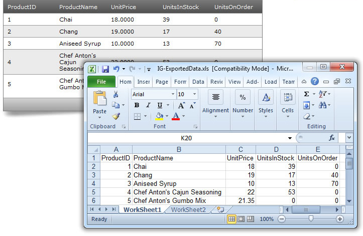 Run Excel-type files completely independently of Microsoft-Excel.