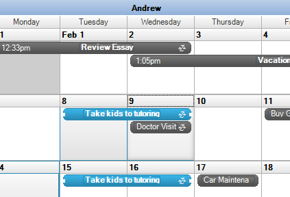 how to create a recurring appointment within calendar outlook