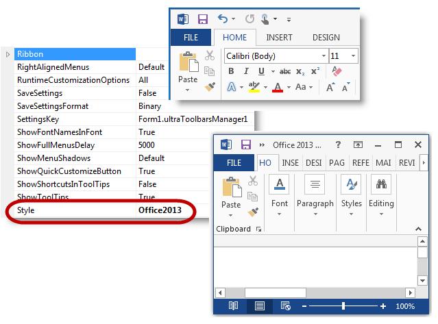 Windows Forms Toolbars Control Infragistics